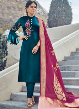 Charismatic Straight Salwar Kameez For Ceremonial