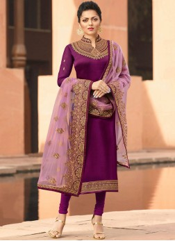 Charming Stone Work  Drashti Dhami Churidar Suit