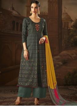Cherubic Cotton Print Designer Palazzo Suit