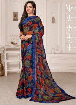 Chic Printed Saree