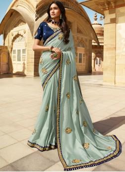 Classic Saree Border Silk in Green