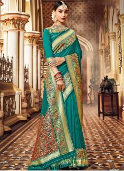 Classic Saree Weaving Silk in Green