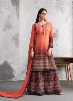 Conspicuous Thread Work Designer Palazzo Suit