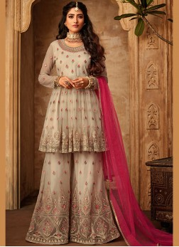 Cream Party Trendy Palazzo Salwar Suit