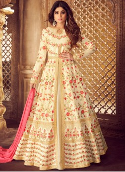 Cream Wedding Designer Lehenga Choli