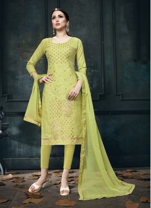 Dashing Cotton Churidar Designer Suit