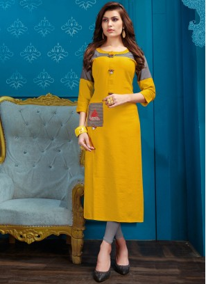 Dashing Fancy Cotton Party Wear Kurti