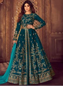 Dazzling Malbari Silk  Embroidered Designer Lehenga Choli