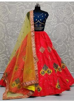 Delighful Girlish Designer Multi Colour Lehenga Choli