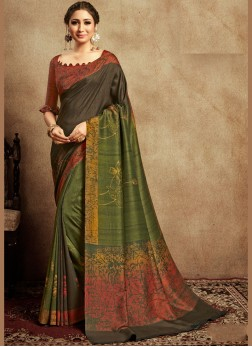 Delightsome Art Silk Abstract Print Printed Saree