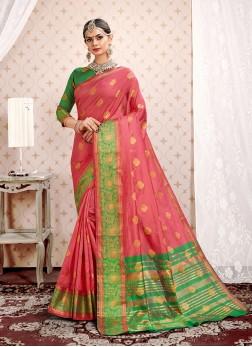 Deserving Weaving Art Silk Traditional Designer Saree