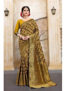 Designer banarasi silk pattern saree