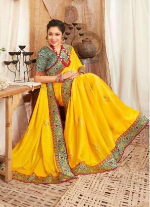 Designer Party Wear Art Silk Saree