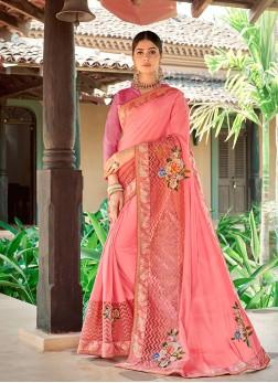 Desirable Georgette Sangeet Trendy Saree