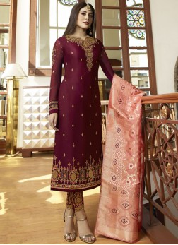 Dignified Embroidered Salwar Suit