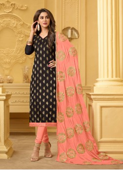 Dilettante Black Festival Churidar Designer Suit