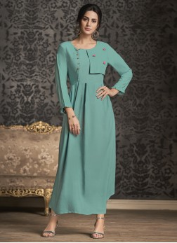 Distinctive Blue Party Wear Kurti