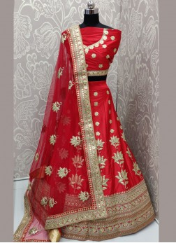 Distinguishable Art Silk Sangeet Lehenga Choli