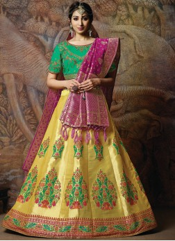 Divine Silk Wedding Designer Lehenga Choli in yellow