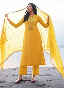 Elegant Embroidery Georgette Pant Style Salwar Sui