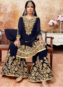 Elegant Faux Georgette Designer Pakistani Suit