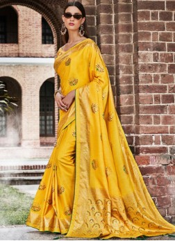 Energetic Art Silk Ceremonial Designer Traditional Saree