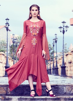 Energetic Fancy Fabric Party Wear Kurti