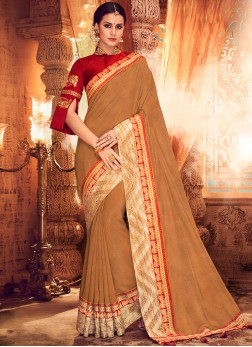 Enthralling Art Silk Sangeet Classic Saree