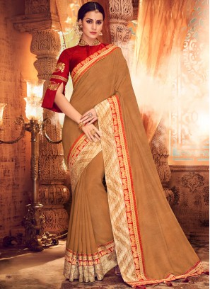 Enthralling Art Silk Sangeet Classic Saree