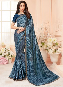 Epitome Abstract Print Casual Printed Saree