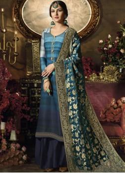 Epitome Blue Festival Designer Palazzo Suit