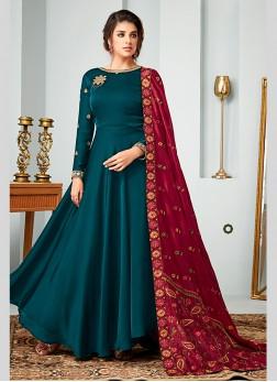 Exotic Floor Length Anarkali Suit For Festival