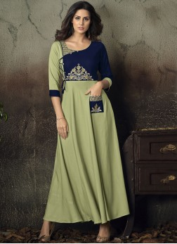 Exotic Green Party Wear Kurti