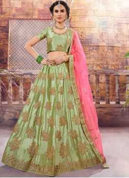 Exotic Green Sangeet Designer Lehenga Choli