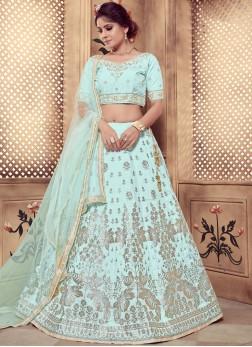 Exotic Turquoise Sequins Designer Lehenga Choli