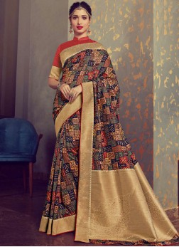 Exquisite Woven Tamannaah Bhatia Designer Traditional Saree