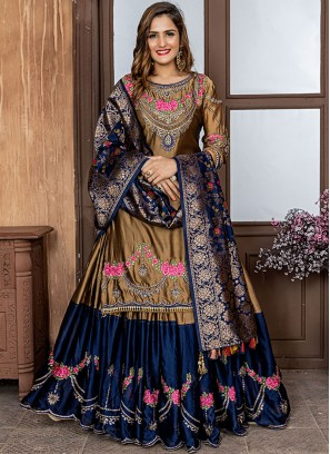 Exuberant Embroidered Gold Rangoli Designer Salwar Suit
