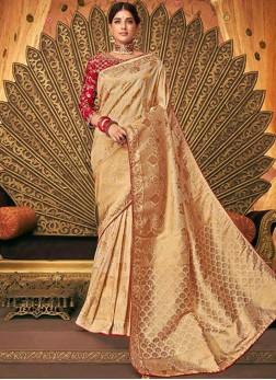 Exuberant Embroidered Wedding Designer Saree