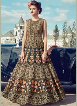 Fab Banglori Silk Handwork Anarkali Salwar Suit