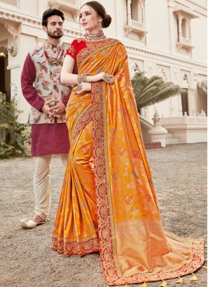 Fabulous Embroidered Designer Traditional Saree