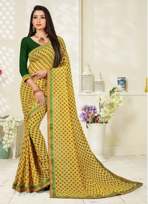 Fabulous Faux Georgette Casual Printed Saree