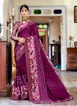Fabulous Purple Festival Classic Saree