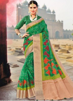 Fancy Fabric Green Traditional Designer Saree