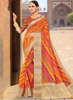 Fancy Fabric Multi Colour Weaving Traditional Designer Saree