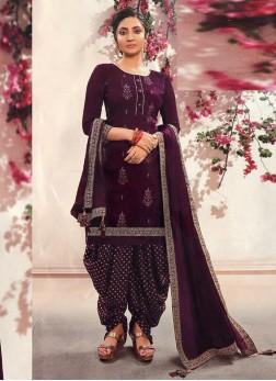 Fancy Wear Delicate Patiala Style Salwar Suit On F