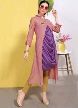 Fantastic Cotton Violet Fancy Party Wear Kurti
