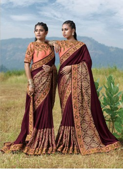 Fantastic Embroidered Designer Saree