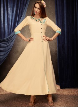 Fantastic Embroidered Rayon Party Wear Kurti