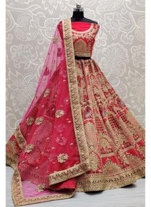 Fascinating Designer Pink Bridal Lehenga Choli