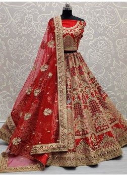 Fascinating Designer Red Bridal Lehenga Choli